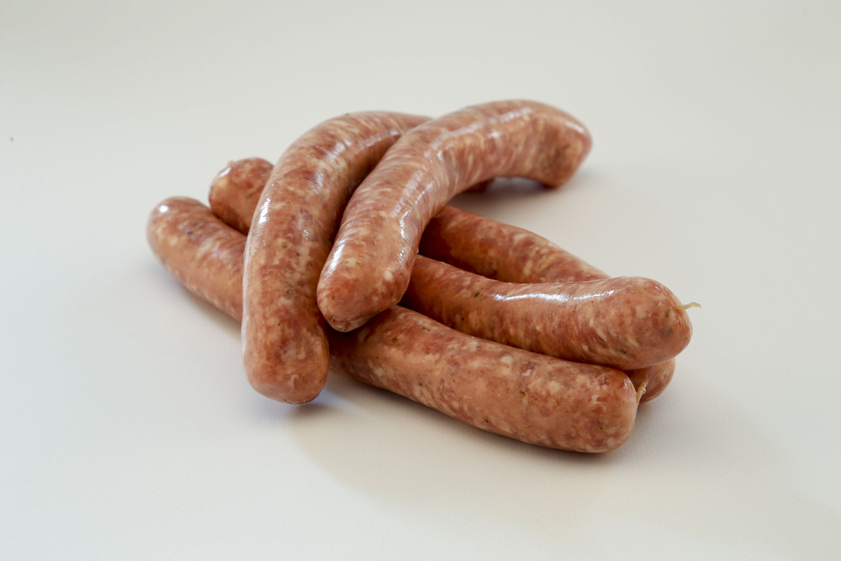 Spicy sausages on each other